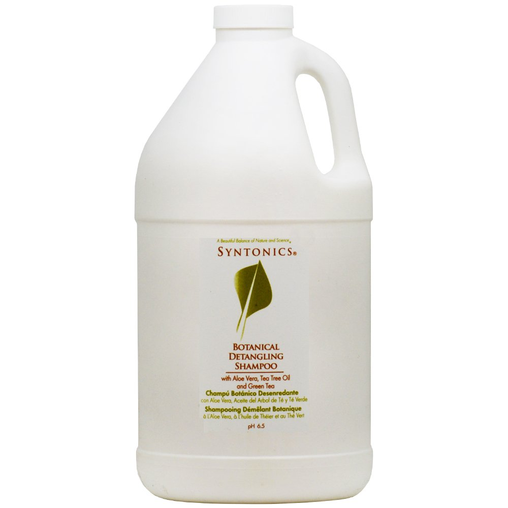 Syntonics Botanical Detangling Shampoo with Aloe Vera, Tea Tree Oil and Green Tea 64oz by Syntonics