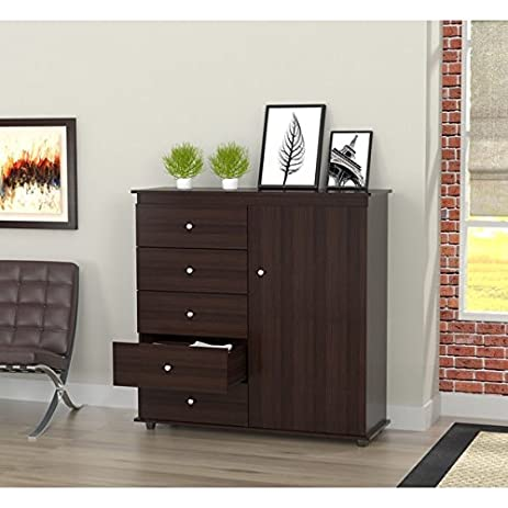 Amazon.com: Modern Armoire/ Dresser Combo Espresso-Wenge: Kitchen ...