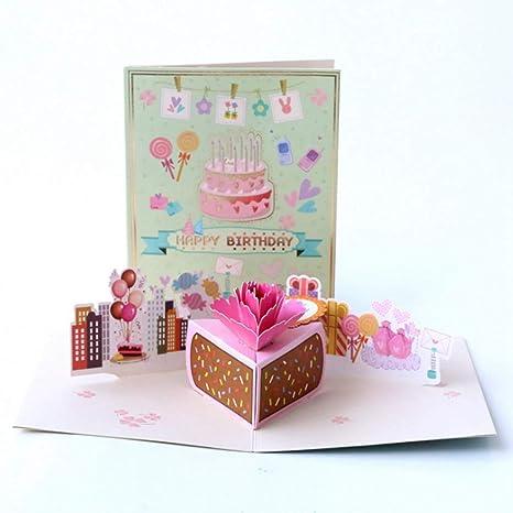 Bhty235 - Tarjeta de felicitación de cumpleaños en 3D ...