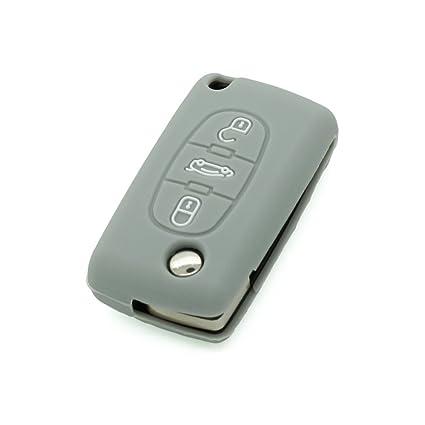 Funda de silicona para mando a distancia de apertura de Citroën - Fassport CV3351 - Para mando a distancia con 3 botones