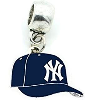 DIY Projects ETC Heavens Jewelry NY New York Yankees Baseball Cap Team Charm Slider Pendant for Your Necklace European Charm Bracelet Fits Most Name Brands