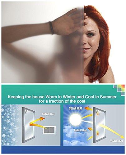 statische Fensterfolie Universal Sichtschutzfolie UV Schutz Wärmeschutz Kälteschutz selbstklebend (Milchglas) (60*150cm)