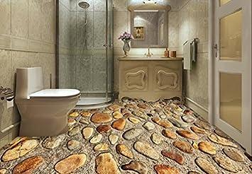 PEIWENIN-Badezimmer 3D Kleine Stein Teppich Tür Pad Badezimmer Küche ...