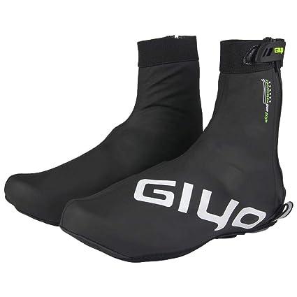 LeKing Zapatos de Ciclismo al Aire Libre Cubierta de Invierno Impermeable GIYO Mountain Road Zapatos de
