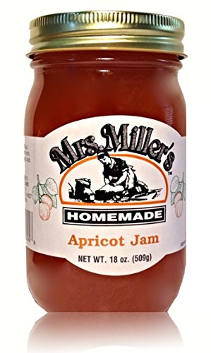 Mrs. Miller's Amish Homemade Apricot Jam 18 oz/509g (Pumpkin Pie Amish)