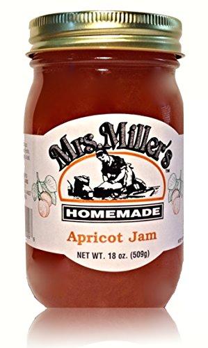 Mrs. Miller's Amish Homemade Apricot Jam 18 oz/509g (Pie Amish Pumpkin)