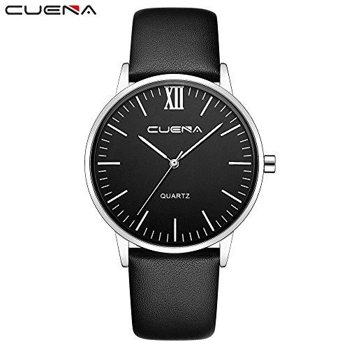- Luxury Brand Watches Men's Quartz Clock Army Military Leather Wrist Watch Fine Strap Bracelet Watch Best Gift for Men Children Present (J)