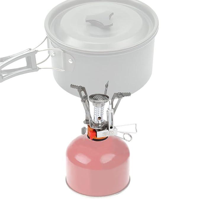 EZOWare Hornillo de Gas, Hornillo Portátil para Camping, Estufa Portable,Estufa de Camping, Color Naranja y Plata: Amazon.es: Electrónica