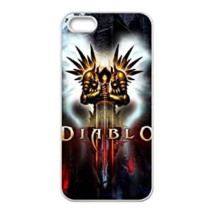 Popular And Durable Designed TPU Case with Diablo Diablo iPhone 5 5s Cell Phone Case White