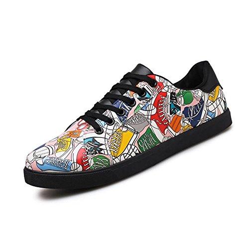 Tendencia de del Xiaojuan de Zapatos la Zapatos shoes EU Manera la Casuales 39 Hombres Plano Ocio tacón Planos de la Moda tamaño Rosado Blanco Color los del del Ocio de PnrvP8qx