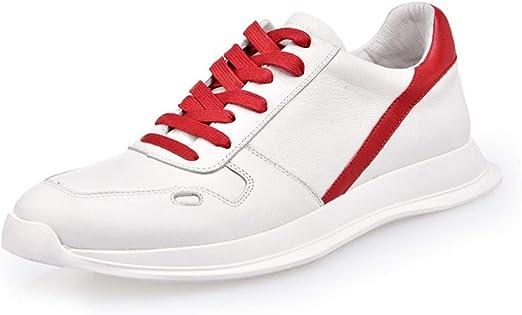 GYPING Zapatillas de Deporte para Hombre Zapatillas Running de Primavera Zapatos Deportivos Cordones Piel de Vaca Trabajo Urbano Caminata Senderismo,Red- 38/UK 5.5: Amazon.es: Hogar