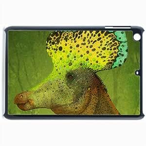 Customized Back Cover Case For iPad Mini 2 Hardshell Case, Black Back Cover Design Dinosaur Personalized Unique Case For iPad Mini 2