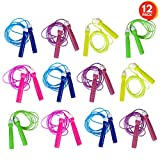 ArtCreativity 7ft Neon Jump Rope Set (12 Pack) | Vibrant Jumping Ropes for Kids | Durable PVC Skipping Ropes |Great Birthday Party Favors/ Goodie Bag Fillers / Gift Idea for Boys and Girls