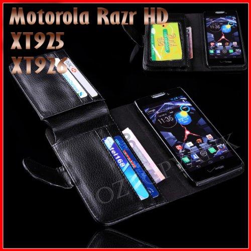 Billfold Wallet Phone Case for Motorola Razr HD XT925 and XT926 (Motorola Razr Hd Xt925 Case)