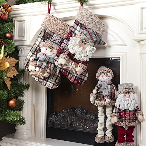 KI Store Christmas Santa Plush Snowman Plush and