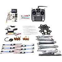 QWinOut DIY FPV Drone Hexacopter 6-axle Aircraft Kit :HMF S550 Frame + PXI PX4 Flight Control + 920KV Motor +GPS + AT10 Transmitter + Battery
