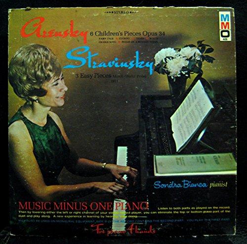 Price comparison product image Sonda Bianca Arensky & Stravinsky Piano vinyl record