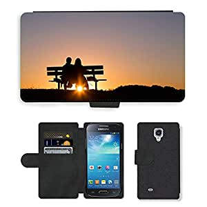 Super Stella Cell Phone Card Slot PU Leather Wallet Case // M00421862 Couple Love Together Sunset Romance // Samsung Galaxy S4 Mini i9190