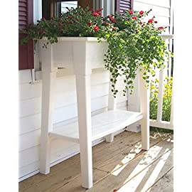 "36"" Raised Planter Bed Box Deck Patio Garden Flower 34"" Tall 1 The 36 in. Garden Planter is the ideal way to add color to the deck or patio. Lifted to 34 in. on sturdy legs, it is the most comfortable way to garden. Ea"