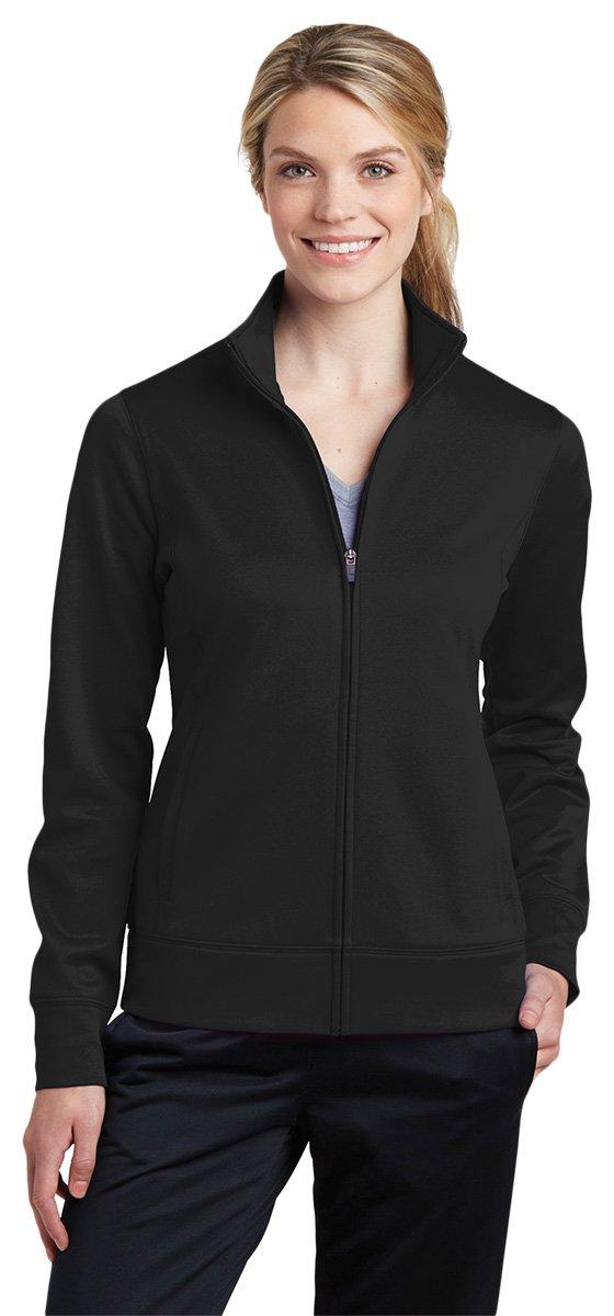 Sport-Tek Womens Sport-Wick Fleece Full-Zip Jacket (LST241) -BLACK -S