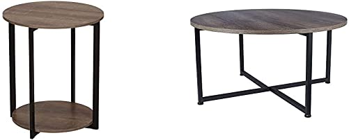 Household Essentials Wooden Side End Table