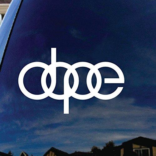 dope-rings-symbol-car-window-vinyl-decal-sticker-6-wide