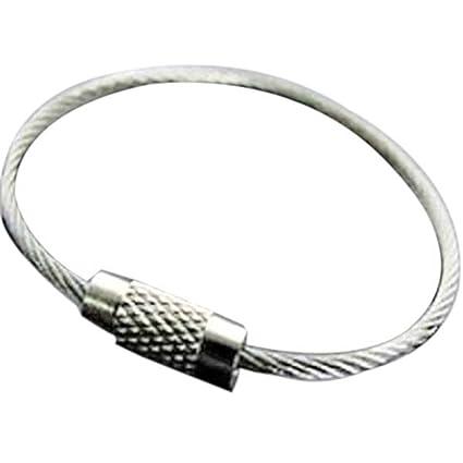 M-Sone Co. - Anillas para llavero (4,8 mm, acero inoxidable, 10 unidades)