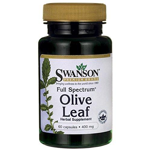 Swanson Full Spectrum Olive Leaf 400 Milligrams 60 Capsules