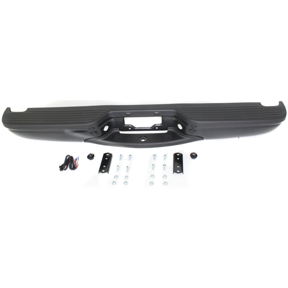 Rear Step Bumper for Ford Excursion 2000-2005 Assembly Powdercoated Black Steel