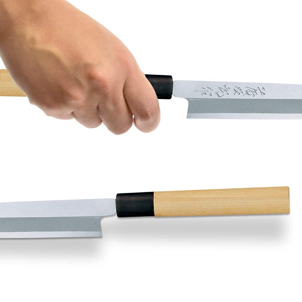Tojiro Shirogami Steel Sushi / Sashimi Chef Knife Yanagi-ba 210mm F-930 by Tojiro Shirogami Steel Series (PC Katsura handle)