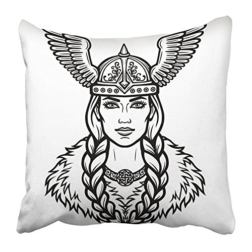 Emvency Decorative Throw Pillow Covers Cases Portrait of