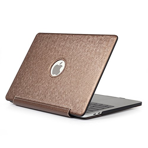 Macbok Pro Retina 15''Case,AICOO PU Leather Case Cover One-Piece Protective Cover Business Hard Shell Accessories Gift Protector for MacBook Pro Retina 15.4inch A1398,Bronze by AICOO