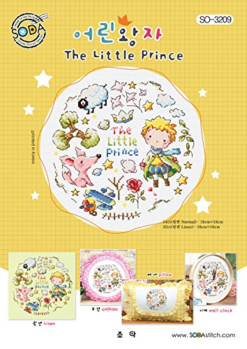 authentic Korean cross stitch design chart color printed on coated paper SO-3209 The Little Prince SODA Cross Stitch Pattern leaflet