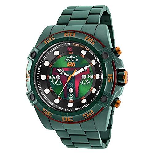 Invicta Men's 26544 Star Wars Quartz Multifunction Green Dial Watch