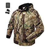 ororo Men's Camo Heated Jacket for Hunting with Hood and Battery Pack (Medium)