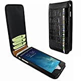 Piel Frama 766 Black Swarovski Crocodile Classic Magnetic Leather Case for Apple iPhone 7 Plus / 8 Plus