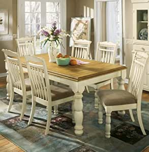 amazon dining room furniture | Amazon.com - Cottage White/Honey Dining Room Extension ...