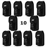 Contractor Pack of 10 Rugged Heavy Duty Locking Clasp Cases with Metal Clip and Belt Loop for Kyocera Cadence Flip Phone.
