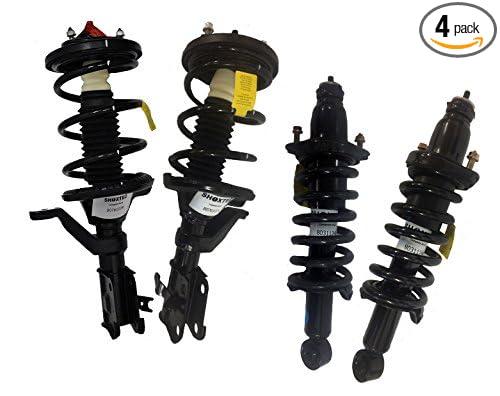 Rear Complete Strut Assembly Shock Absorber Coil Spring Kit for 2003 2005 Honda Civic 2004 Repl. Monroe # 171340R, 171340L, 172185, 172186 Front