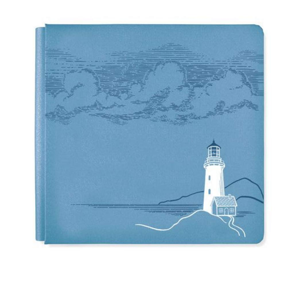12x12 Storm Blue Deep Blue Sea Lighthouse by The Sea Design Scrapbook Album Cover by Creative Memories True Size by Creative Memories