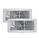 Suncourt Flush Fit Register Air Booster Fan HC500-W- White - (2 Pack)