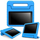 MoKo Case for Fire 7 2015 - Kids Shock Proof Convertible Handle Light Weight Super Protective Stand Cover for Amazon Fire Tablet (7 inch Display - 5th Generation, 2015 Release Only), BLUE