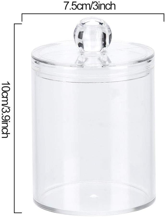 DaMohony Contenitore trasparente per cotton fioc in acrilico trasparente