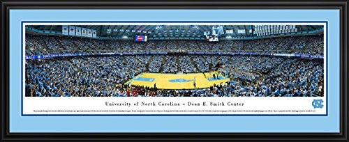 (North Carolina Basketball - Blakeway Panoramas College Sports Posters with Deluxe Frame)