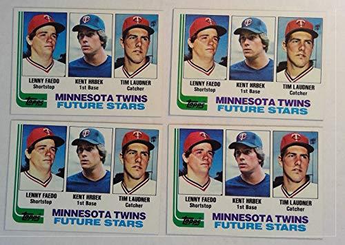 Topps 1982 Minnesota Twins Future Stars Baseball Cards # 766 Lot of 4 Lenny Faedo, Kent Hrbek, Tim - Chewing Cards Topps Gum