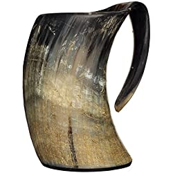 Ale Horn 20oz Handcrafted Extra Large Viking Cup Drinking Horn Tankard