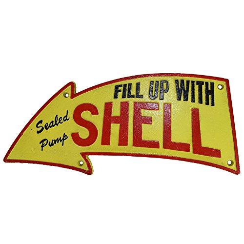 uel Cast Iron Sign Plaque Wall Garage Petrol Shop Garage ()