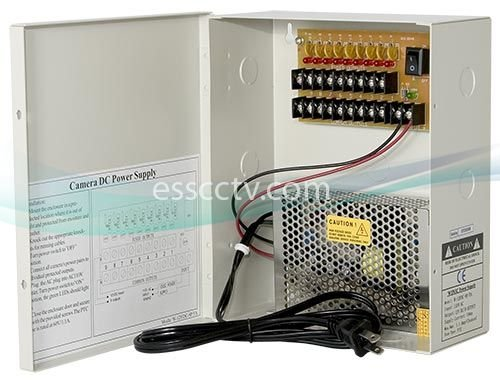 Power Supply Distribution Box - 12V DC 8 channels High Output 13 Amps, Resettable PTC Fuse