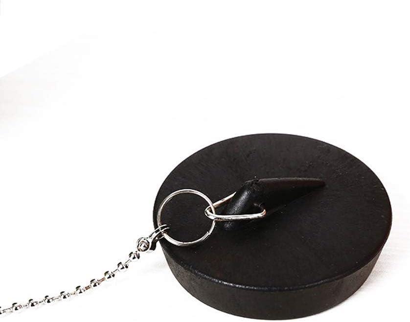 Free Size Noir GCDN Baignoire Stoppeur /Évier Prise Utilisation Facile avec Cha/îne Salle de Bain Cuisine Anti-Leakage Scell/é