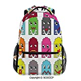 SCOCICI Laptop Backpack 90s Vintage Video Games Style - for High School or College